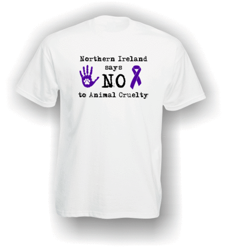 Northern Ireland Says NO To Animal Cruelty (#2) T-Shirt (Adult)