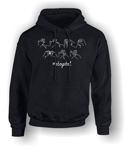 Stop BSL in Sign Language - Adult Hoodie
