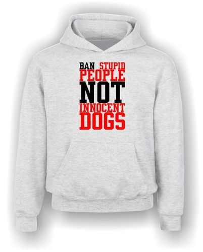 Ban Stupid People NOT Innocent Dogs - Hoodie - Kids