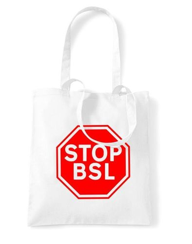 Stop BSL Sign - Tote Bag