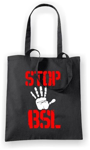 Stop BSL (Hand) - Tote Bag