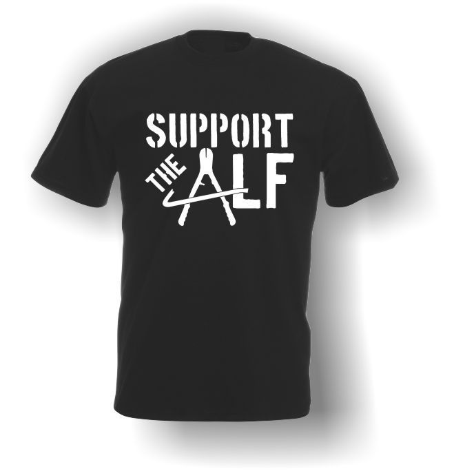 e8b94626cb6 Support the ALF (Animal Liberation Front) T-Shirt - Adult - Vegan ...
