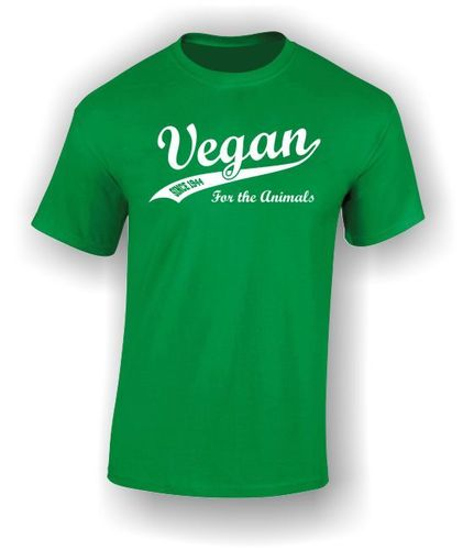 Vegan Since 1944 Swash - Adult t-shirt