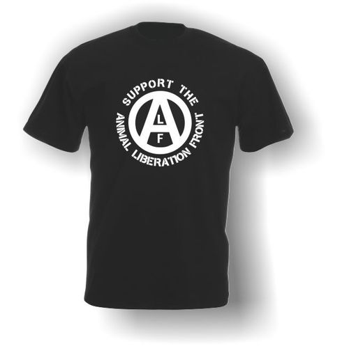 Support the ALF (Animal Liberation Front) - Adult T-Shirt - Vegan